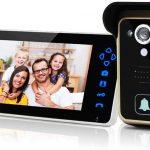 SIMBAILAI 7 Pouces Interphone vidéo sans Fil